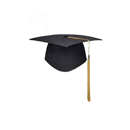 Vkospy Cappello Accademico Dottore Formazione accademica Nappe cap Tocco  accademico università Laurea Master b68a0725e7fd