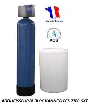 Adoucisseur d'eau bi bloc 175L fleck 7700 SXT