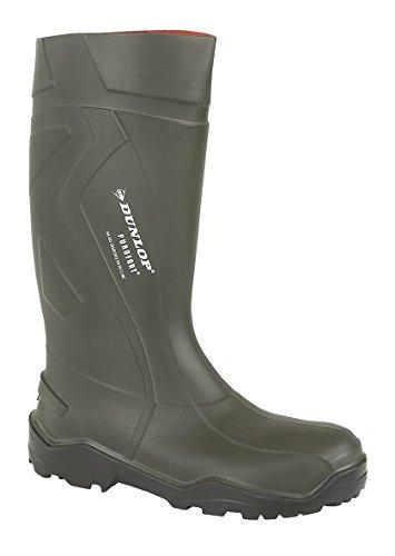 Dunlop PUROFORT+ Unisex Non-Safety Wellington Boots Green 37