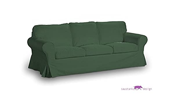 saustark design manchen cover for ikea ektorp 3 seat sofa dark green amazoncouk kitchen home munchen