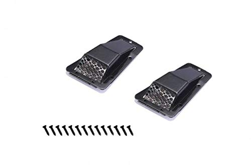 G.P.M. R/C Scale Accessories : Metal Fender Vent (Style A) for Traxxas TRX-4 Land Rover Defender D90 D110 - 1Pr Set Black -