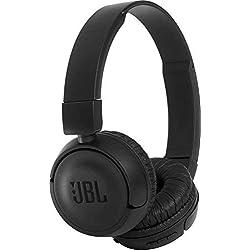 JBL T450BT Cuffie Sovraurali Bluetooth, Cuffie On Ear Wireless con Microfono e Comandi su Padiglione, JBL Pure Bass Sound, Leggere e Pieghevoli, Da Viaggio, Fino a 11h di Autonomia, Nero