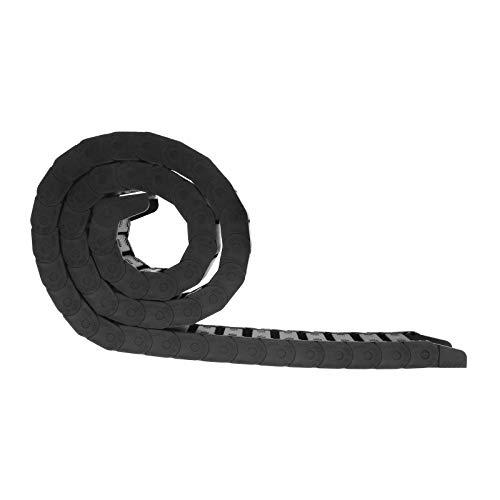 OTOTEC 1 m Cadena de Arrastre de Nailon para Cable de Remolque, enrutador de impresión 3D, Cables para Impresora 3D CNC máquina de enrutador Negro 15 x 30 mm x 1