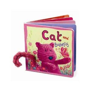 Image of Jellycat Jellykitten - Jellykitten Cordy Cat and Butterfly Baby Board Book