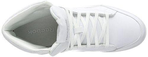 Reebok Fabulista Mid Night Out, Sneakers Hautes femme Blanc (white/silver Met)
