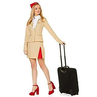Karnival 81318Air Stewardess Kostüm, Frauen, braun, extra klein