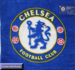 Chelsea Logo Blue Face Cloth Towel Flannel 100%Official by Chelsea F.C.