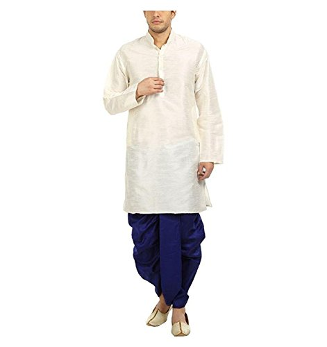 Royal Kurta Men's Silk Blend Dhoti Kurta Set