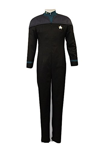 Star Trek The Next Generation Deanna Troi Jumpsuit Uniform Cosplay Kostüm Herren (Kostüm Star Troi Trek Deanna)