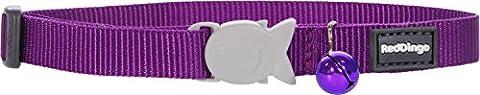 RED DINGO Collier pour Chat Violet 20-32 12 mm
