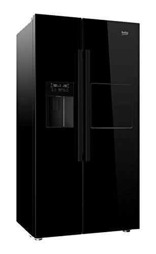 Beko-GN-162430-P-Side-by-Side-A-182-cm-Hhe-370-kWhJahr-368-Liter-Khlteil-176-Liter-Gefrierteil-Piano-schwarz
