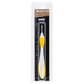 ADDI Swings Griff, Stärke 2,50 mm Häkelnadel, Aluminium mit Kunststoff, Mehrfarbig, 24 x 6.5 x 2 cm