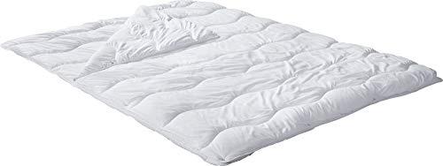 REDBEST Vier-Jahreszeiten-Bett, Steppbett, Bettdecke Textilfaser weiß Größe 200x200 cm - Feuchtigkeitsabtransport, Liegekomfort, waschbar, ergonomische Wellensteppung