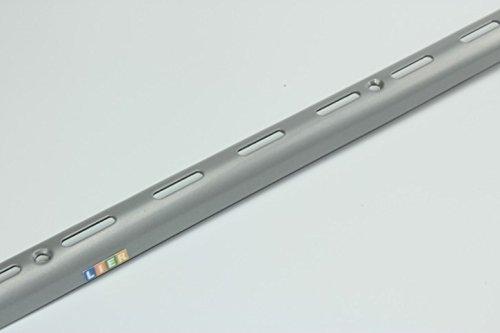 Element System Design Halbrund-Wandschiene. Länge 1000 mm. Stahl. 1 Stück. weiß-alu RAL 9006. 10004-00012
