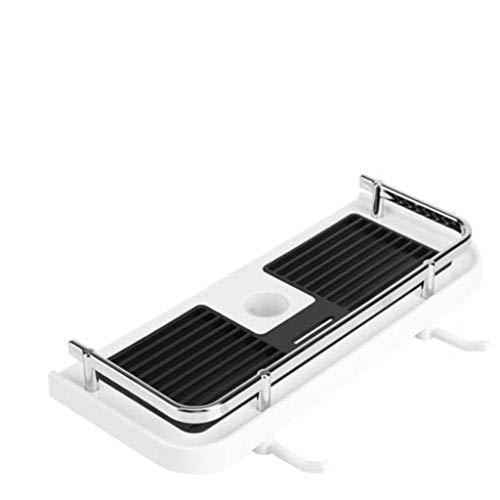 Bathroom Pole Shelf Shower Storage Caddy Rack Organiser Tray Holder Duschregal, Badregal KöRben Regal Dusche Duschregal Ecke Badezimmer Wand KüChen Kein Bohren Wandmontage Badezimmer-Produkte