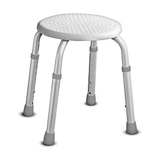 Adjustable Height Round Shower & Bath Bathroom Seat Stool