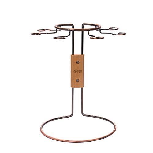 Hbjiazitu Becherhalter, Weinglasablage Decanter Aufbewahrungsbox/Ständer (6-12 Becher)