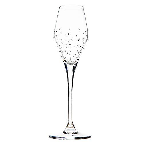 Luxor Crystal DUCHESS: Champagnerglas 2er-Set veredelt mit 150 SwarovskiKristallen.