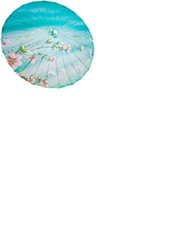 GODHL Bambus chinesische orientalische Regenschirm Sonnenschirm klassischer Tanz Regenschirm Peach Blossom