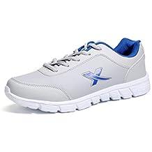 YAYADI Zapatos Hombre Verano Transpirable Lace Up Hombres Calzado Casual Hombres Exterior Confort Luz Blanca Pisos