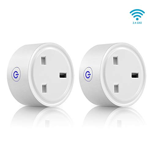 WiFi Smart Plug Mini AISIRER Alexa Plugs, Timer Remote Control Plug Socket No Hub Required,Smart Socket Support Amazon Alexa Google Assistant IFTTT(UK Plug)