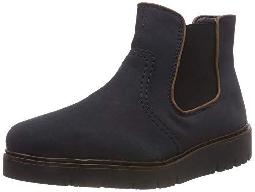 Rieker Damen Y5864 Chelsea Boots, Blau (Pazifik/Brandy 14), 42 EU
