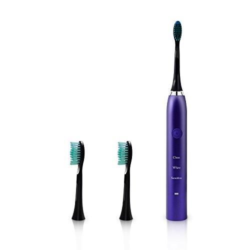 Elektrische Zahnbürste, Luckyfine IPX7 elektrische Schallzahnbürste mit Vibrations-/Schalltechnologie mit 2 ersetzend Bürstenköpfen