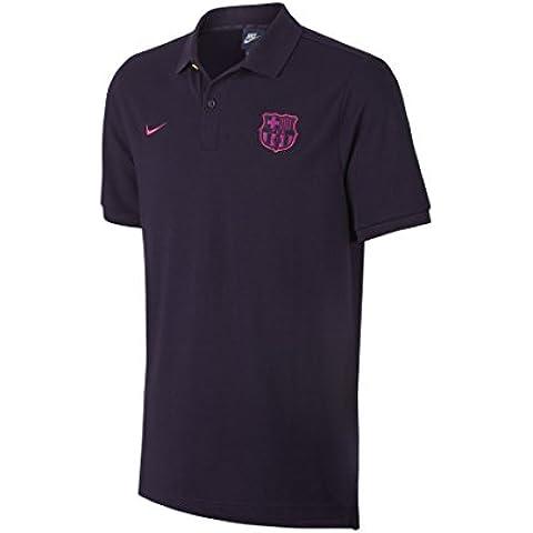 Nike FCB M NSW Polo PQ CRE - Polo manga corta FC Barcelona para hombre, color morado, talla S