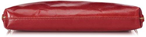 CTM Borsa Donna da Lavoro,Organizer da Donna, 38x28x7cm, Vera Pelle 100% Made in Italy Rosso