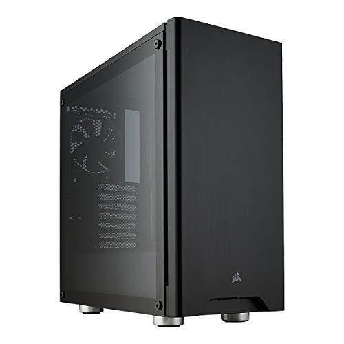 Corsair Carbide 275R - Caja de ordenador semitorre  para juegos (Torre Media ATX con ventana de vidrio templado), Negro