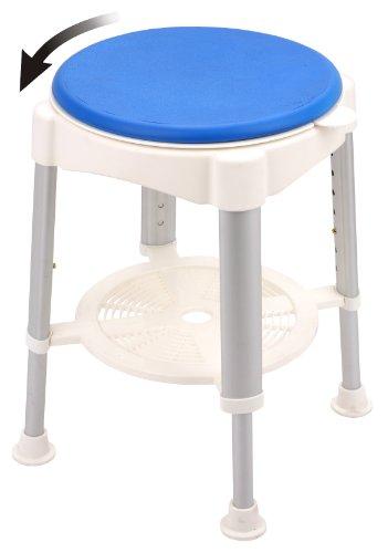 Höhenverstellbarer Badewannenhocker Sitzfläche 35 cm bis 150 KG Duschhocker der Sitz drehbar Altagshilfe