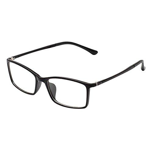 Haodasi Retro TR90 Kurzsichtigkeit Hochauflösend Brille Schlank Felge Computer Goggles Kurzsichtig Linsen für Studenten(Stärke -0.5, Matt Schwarz) (Diese sind nicht Lesen Brille)