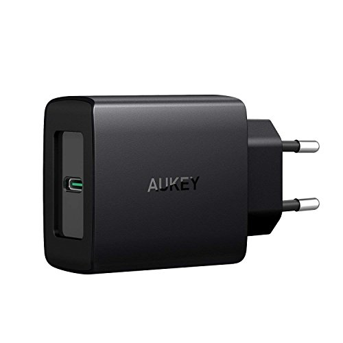AUKEY USB C Cargador de Red con Power Delivery 3.0 27W, Cargador Móvil para Samsung Galaxy S8 / S7, Nexus, Google Pixel XL, Macbook / Pro, iPhone X / 8 / 8 Plus, Nintendo Switch y más