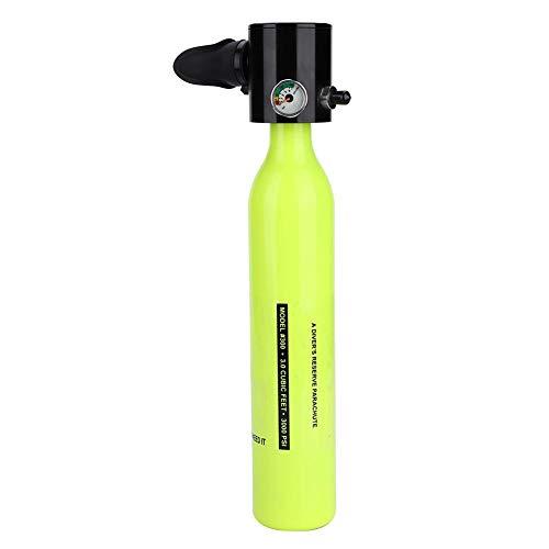 Focket Tauch-Sauerstoffflasche, TauchausrüstungZubehör, Mini-Tauchflaschen-Sauerstoff-Atemschutzmaske, Luftfahrt-Aluminium und Standard-Tragbares Gerät