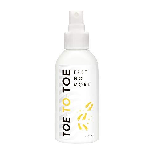 Schuh Deo Spray Geruchsstop von Toe-to-Toe 100ml I BIO Fuss Deo mit Lavendelduft I 100{cf7aafa20531bfa17a60879d65d2bd510204b8b36256f64df73e48b36493b6a3} natürliches Schuhspray gegen Geruch I Gegen Schweißfüsse & stinkende Schuhe I Alternative zu Puder