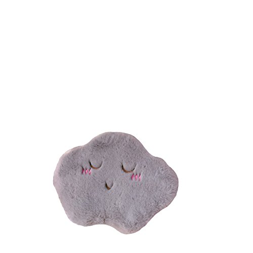 Japanische Niedliche Plüsch Wolke Mädchen Herz Schultertasche Student Weiche Mädchen Kette Handy Geldbörse,Grey (Samt Geldbörse Herz)