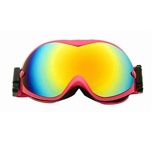 Easy Go Shopping Bergsteigen-Fischen-Schneebrille-Ski-Anti-Nebel und Sand-Beweis große kugelförmige Gläser für Männer, Frauen Sonnenbrillen und Flacher Spiegel (Farbe : Rot)
