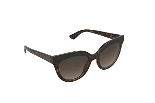 Christian Dior Damen Sonnenbrille Diorsoft1 Ha, Schwarz (Havana), 51 (Christian Dior Sonnenbrille Havana)