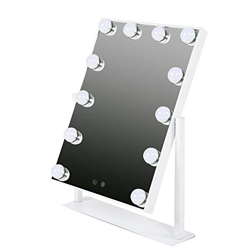 Arbeitsplatte Eitelkeit (Hollywood-Art-Eitelkeits-Schminkspiegel-Tischplatten-Lichter, Berufsquadrat-Arbeitsplatte Super helle kosmetische Spiegel beleuchteten die Tabellen-gesetzte mit intelligenten Noten-justierbaren LED-Bi)