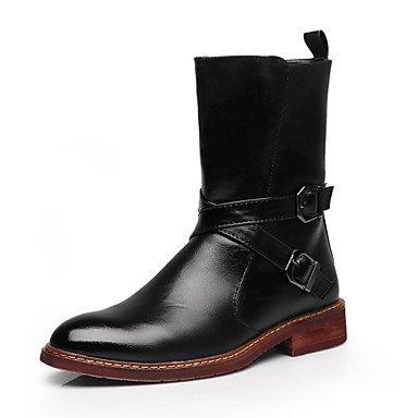 Love & scarpe da uomo scarpe in pelle ufficio & carriera/casual stivali ufficio & carriera/casual (Borgogna In Pelle Di Avvio Boot)