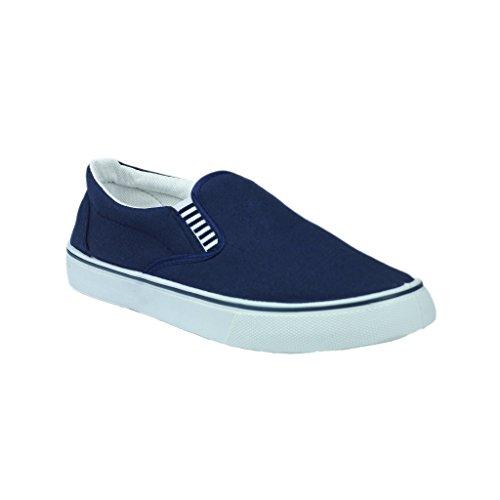 Azul Mirak Lona Tecido Sapatos Marinho De Sapatilhas Yachtmaster Homens rrw0napB