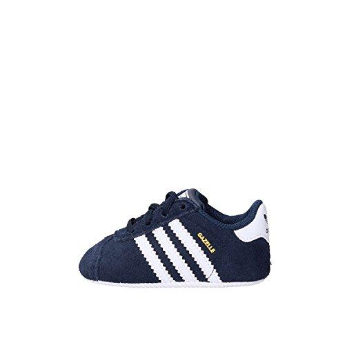 adidas Gazelle Crib, Sneakers Unisex – Bimbi 0-24 Blu (Collegiate Navy/Ftwr White/Gold Met.)