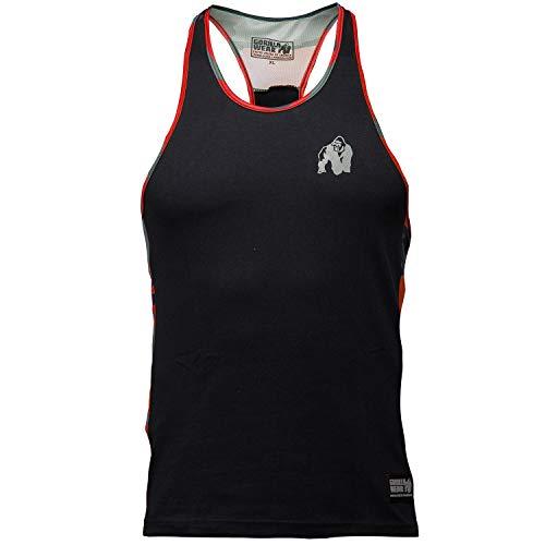 Gorilla Wear Sacramento Camo Mesh Tank Top - schwarz / rot - Bodybuilding und Fitness Bekleidung Herren, XL -