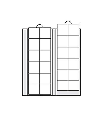 5 x SAFE 7392-5 Premium Münzhüllen - Münzblätter - Ergänzungsblätter Für Münzen bis 34 mm - Ideal für 5 -10 - 20 Euro 5 - 10 DM 5 -10 - 20 Mark DDR