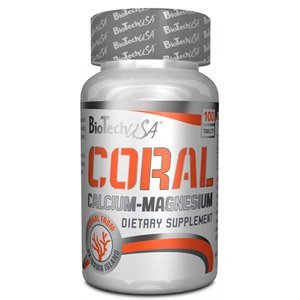 Biotech 2 g Coral Calcium/Magnesium Vitamins and Minerals - Pack of 100 Tablets