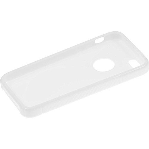 PhoneNatic Case für Apple iPhone SE Hülle Silikon blau S-Style Logo Cover iPhone SE Tasche + 2 Schutzfolien Weiß