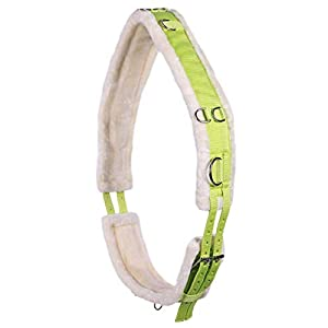 ARBO-INOX – Longiergurt – beidseitig einstellbar – mit Kunstfell – farbig (COB VOLLBLUT, Lime)