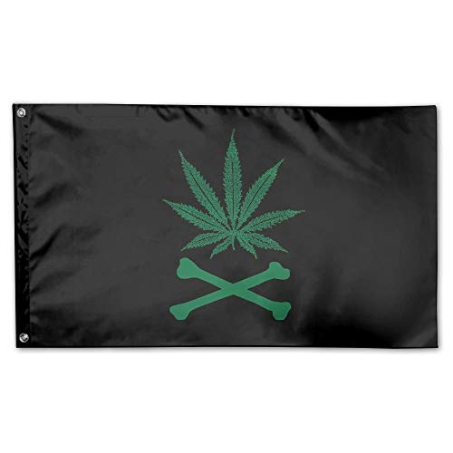 WEERQ Garden Flag Weed and Bone Outdoor Yard Home Flag Wall Lawn Banner Polyester Flag Decoration 30x45CM