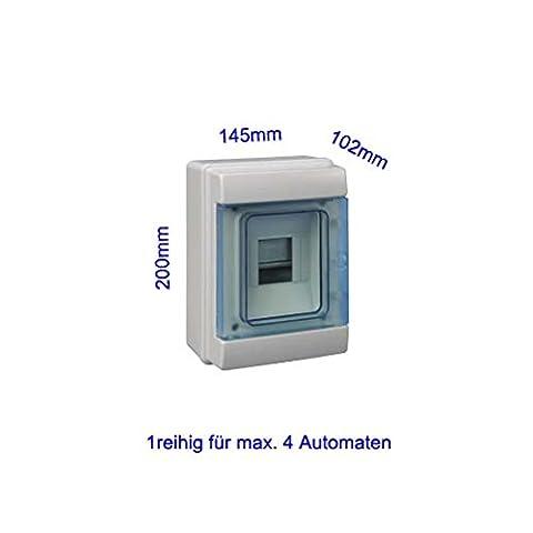 Kleinverteiler füt 4 Automaten Feuchtraum IP65 AP Aufputz Unterverteilung Sicherungskasten