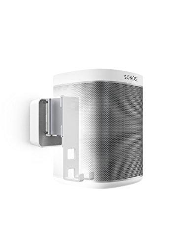 Vogel's Sound 4201 Blanc, Support Mural Réglable pour Enceinte SONOS Play:1, Inclinable 30º et Orientable 70º